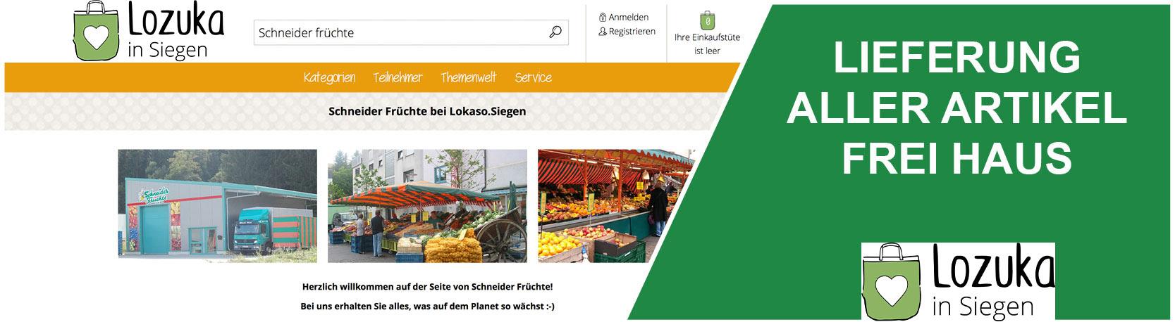 Teaser Lokaso - Schneider Früchte bei Lokaso!